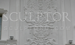 Decor of the facade, decorative panels made ​​of concrete, size 6,0 m * 2,2 m
