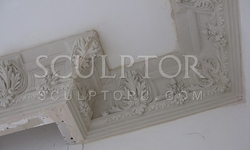 Cornice of gypsum