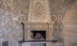 Fireplace in country style